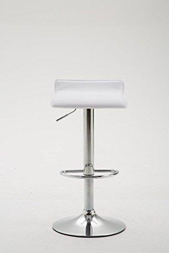 CLP Sgabello Bar DYN V2 in Similpelle | Sedia da Cucina con Poggiapiedi |  Sgabello da Bancone con Piedistallo | Sgabello Design Regolabile in Altezza  ...