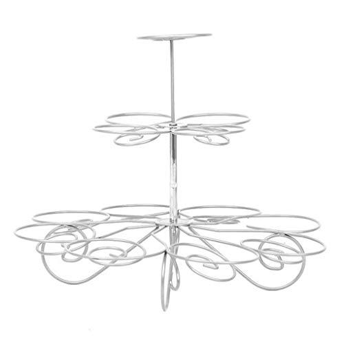 Rekkles 3 Ebenen Baum Tortenständer 13 Cups Cupcake Eisen-Halter-Ausstellungs Hochzeit Geburtstag-Feiertags-Party-Backen-Werkzeuge verziert