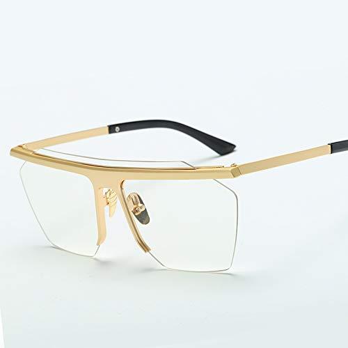 LKVNHP New Hochwertige Mode Sonnenbrillen Frauen Vintage Männer Platz Sonnenbrille Brillen Gafas Oculos Uv400 BrilleKlareLinse