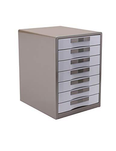 Ordner-Ablagesysteme HongLianRiven 7 Schubladen Metall Schubladen Aktenschränke Einheit Office Paper Sorter Schrank Storage Organizer (blau, braun) (2 Schublade Aktenschrank Braun)