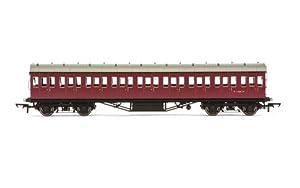 Hornby R4690Non-Corridor 57Tercera Clase Entrenador BR Tren Modelo Set, marrón