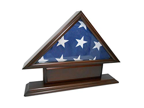 ns 5' x9 ' Flag Case for Veteran/Funeral/Burial Flag-Mit Namensschild ABC ()