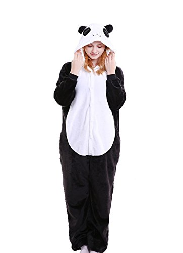 Yimidear Unisexe Hot Adulte Pyjamas Cosplay Costume d'animal Onesie de nuit de nuit - S - Giant Panda