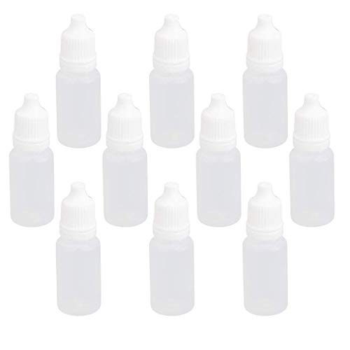 AzuNaisi 10ml Precision Tip Applicator Bottle flüssige Plastiktropfflaschen für DIY Fertigkeit Malerei 10Stk Bürobedarf