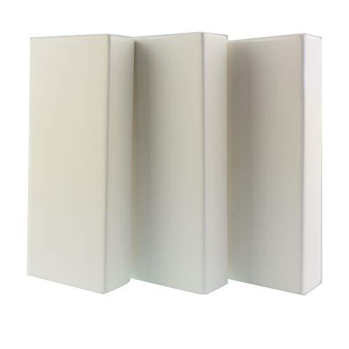 Curalit Luftbefeuchter Verdunster - Set mit 3 Stück - für alle gängigen Heizkörper ca. 280 ml Volumen Verdunster für Heizkörper - aus neutraler Keramik passend für alle Heizungen