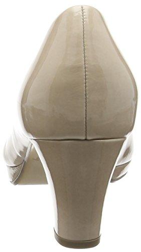 Gabor Figaro, Semelle compensée et talons femme Beige (Sand Patent HT)