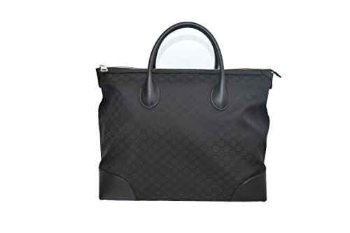 Gucci-GG-Guccissima-Black-Large-Canvas-and-Leather-Carry-On-Tote-Travel-Bag-374226-493492