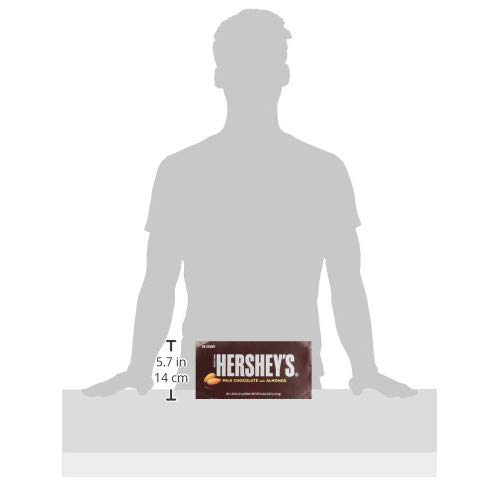 Hershey's Milk Chocolate Bars with Almonds, 1.45-Ounce Bars (Pack of 36)