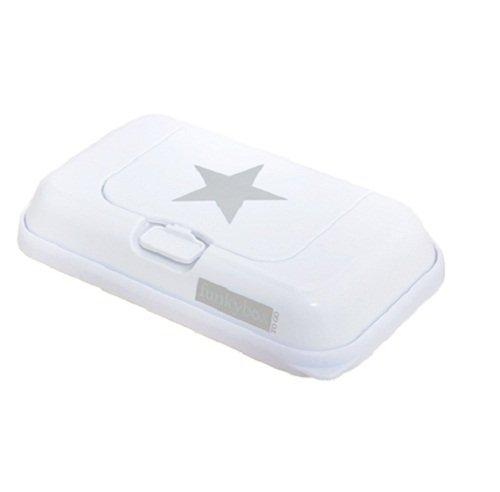 Funkybox - Pequeña cajita para toallitas húmedas - Blanco con gris estrella