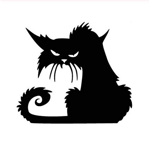 14,6 * 12,9 CM Halloween Terror Katze Fenster Aufkleber LustigeCartoon Auto Aufkleber Schwarz/Silber/3PCS (Lustig, Halloween Sauber, Cartoons)