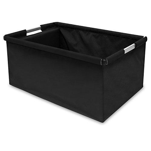 achilles®,Big-Box ALU,AD120Abl, Einkaufsbox/ Transportkiste mit Aluminiumrahmen ,schwarz,60 cm x 40 cm x 30 cm