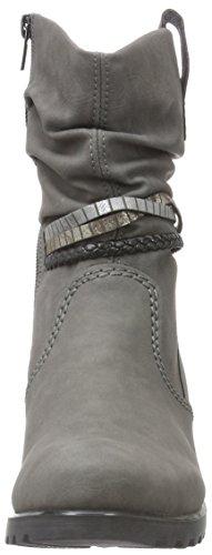 Rieker Damen Y8056 Kurzschaft Stiefel Grau (Dust/oro/argento/schwarz / 42)