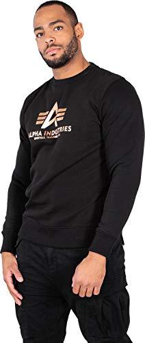 1a9137f99ef3 Alpha Industries Men's Sweatshirt Basic, Größe:2XL, Farbe:Black/Gold