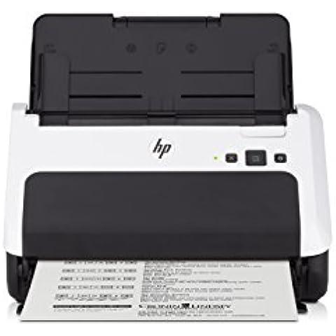 HP Scanjet Pro 3000 s2 - Escáner (215,9 x 864 mm, 600 x 600 DPI, 48 Bit, alimentación de hojas, Negro, Color blanco,