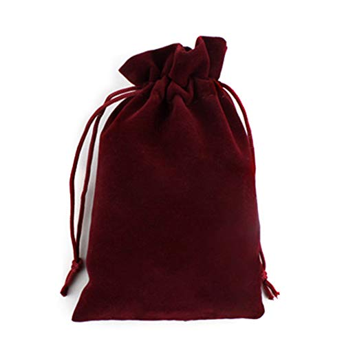 Leisial Kordelzugbeutel Rucksack Süßigkeiten Taschen LagerungTasche Aufbewahrungstasche Geschenktüten Schmuckbeutel Dunkelrot