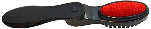 Kleiber - Spazzola per tessuti da viaggio, levapelucchi e calzascarpe 3-in-1, nero