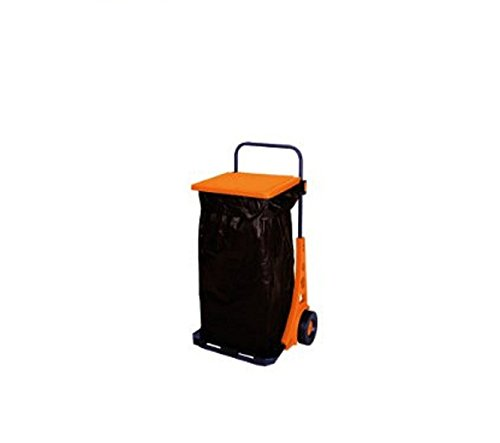 Papillon 86939 Chariot-poubelle de jardin Orange