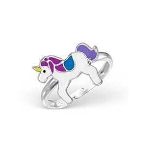 Liara Kinder Einhorn Ring 925 Sterling Silber.Poliert und Nickelfrei