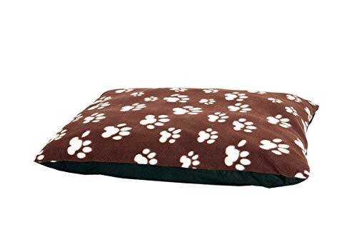 Karlie Hundekissen Eckig Paws, braun 91 cm x 70 cm x 4 cm, aus flecce