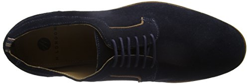 Hudson Albany Suede, Chaussures à Lacets Homme Bleu Marine