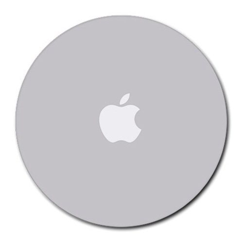 new-apple-mouse-pad-grey-color-with-white-logo-round-non-slip-neoprene-rubber-standard-8