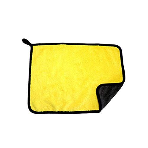 ush Trockentuch Premium Plüsch Microfasertuch Professional Car, Autowaschtuch, dick saugfähig, Korallenvlies, Wischtuch(B) ()