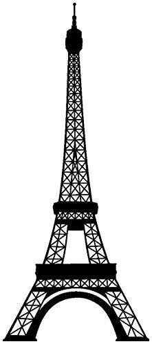 Samunshi® Wandtattoo Eiffelturm Paris Wandaufkleber in 13 Größen und 25 Farben (52x120cm schwarz) - Paris-wand-aufkleber