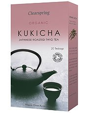 Organic Japanese Roasted Twig Tea, Kukicha 50g 20 Bags