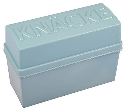 Knäckebrotbox Brotbox Knäckebrot Box Brotdose Aufbewahrungsbox Vorratsdose, Farbe:petrol