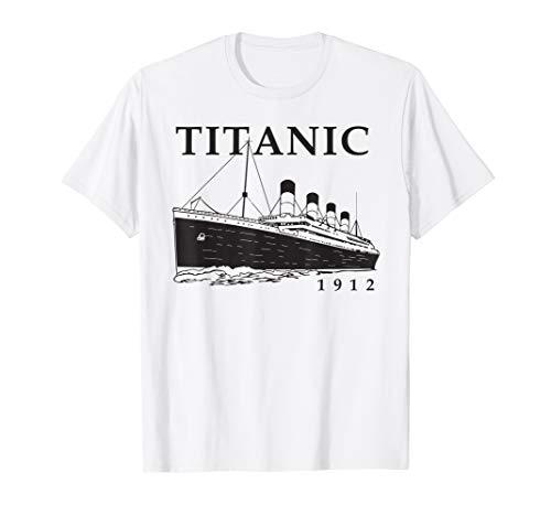Titanic Vintage Cruise Ship Atlantic Ocean Queen Voyage  T-Shirt
