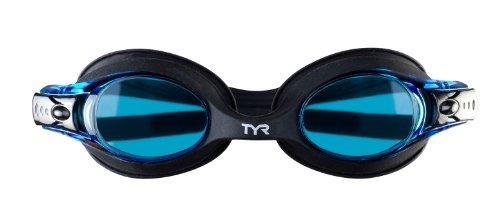 TYR Swimple Youth Goggle (Smoke/grün) Einheitsgröße schwarz/blau