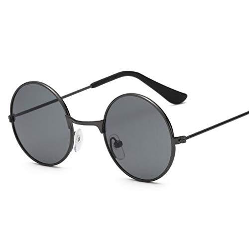 CCGSDJ Vintage Runde Sonnenbrille Kinder Mode Metall Farbverlauf Retro Kinder Sonnenbrille Für Jungen Mädchen Uv400 Säuglings Eyewear