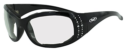 Global Vision Eyewear Sonnenbrille 24Marilyn 2Plus Serie mit Rahmen schwarz glänzend und transparent Photochromatisch Objektive