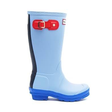 Hunter KIDS Boots Original Contrast Blue Lily Blue Lily C3