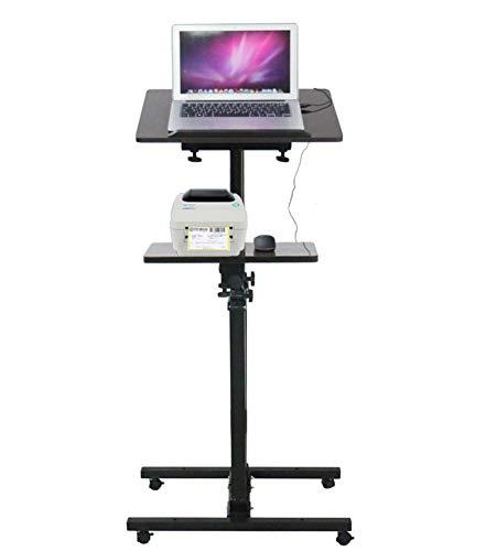 (Mobile Laptop stand schreibtisch, Höhe verstellbar Schreibtisch aufzustehen Monitor Computer-arbeitsplatz Rollende präsentation warenkorb Mit maus-pad-B 50x40x150cm(20x16x59inch))
