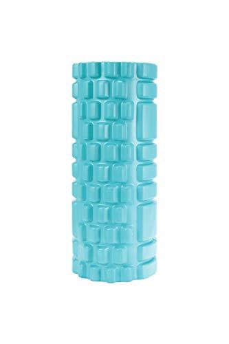 Mountain Warehouse Schaumstoffrolle - leichte Yoga-/Waden-/Körper-/Fitnessrolle, Eva-Schaum, robust - zur Linderung von Muskelschmerzen, verbessert die Durchblutung Blaugrün
