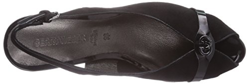 GERRY WEBER Shoes Kitty 02 Damen Peep-Toe Pumps Schwarz (schwarz 100)