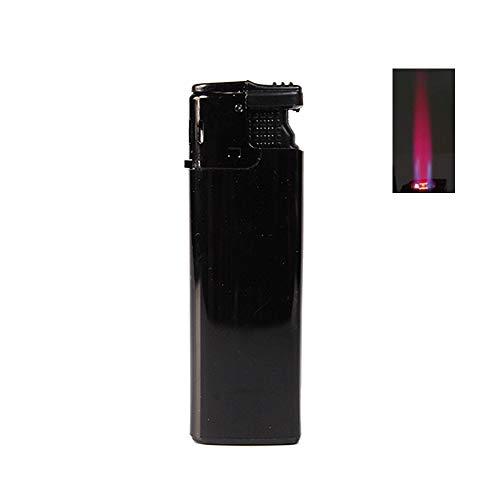 Bulentini Turbo Sturmfeuerzeug Black ZS 1-10, ROTE Flamme Gas Jet Flame Lighter (1x Schwarz (1 Feuerzeug))