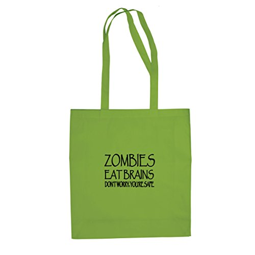 Zombies eat Brains - Stofftasche / Beutel Hellgrün