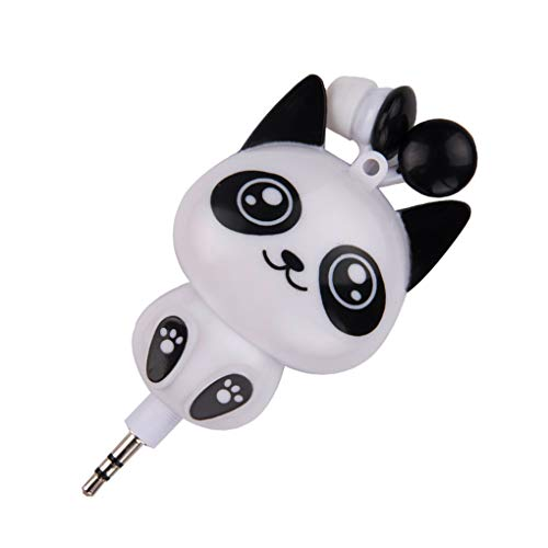 Rekkle 3,5 mm Kabel Retractable In-Ear Headset-Cartoon-Entwurf Telefon-Musik-In-Ohr Kopfhörer Earbuds 3.5 Mm Retractable Headset