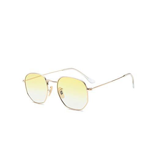 Sportbrillen, Angeln Golfbrille,Polygon Frame Metal Square Sunglasses Women Classic Vintage Pilot Sun Glasses Brand Design Gradient Sunglasses Oculos C7