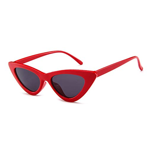 WEINANA Triangle cat Eye Trend Sunglasses Big red Gray Piece Lightweight Sport Driving Cycling Eyewear Glasses Durable