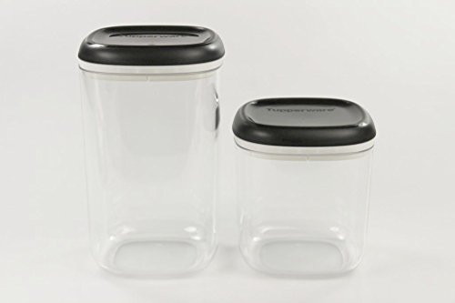 TUPPERWARE Clear Collection 1,3 L+780 ml Crystal schwarz transparent Vorratsdose
