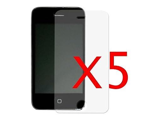 BONAMART ® New Brand Zubehörpaket: 5 Spiegel Displayschutzfolie Spiegelfolie for iPhone 3g 3G 3GS