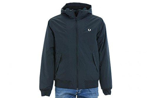 Fred Perry Hommes Hooded Jacket Brentham Marine Blu