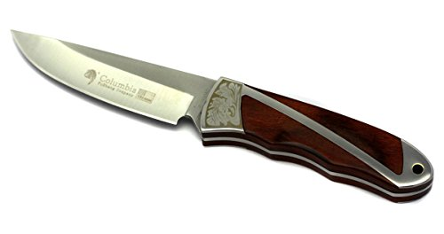 Columbia Jagdmesser Messer Outdoor mit Holzgriff aus Edelstahl Knife