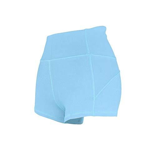 Anyeda Yogahose Mama Nylon & Spandex Einfarbig Sporthosen für Mädchen Lang Eng Königsblau M