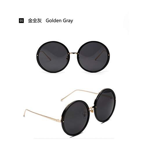 YLNJYJ Sonnenbrillen Sonnenbrille Frauen Übergroßen Runden Rahmen Sonnenbrille Männer Italien Design Klare Linsen Sonnenbrille Mädchen Goggles Gafas