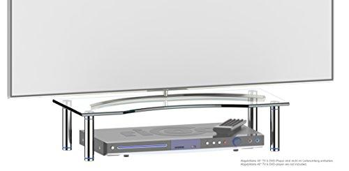 RICOO Monitorständer Bildschirmständer TV Ständer Podest FS5624C Universal Standfuß Rack Fernsehständer LCD QLED QE 4K LED OLED IPS SUHD UHD 3D Curved/ 33cm/13-74cm/29 Zoll/Klarglas