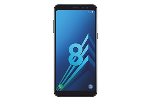 Samsung Galaxy A8 2018 Smartphone Débloqué 4G (Ecran : 5,6 Pouces - Nano-SIM - Android 7.1-32 Go) Noir Carbone